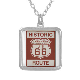 Carthage Route 66 Silver Plated Necklace