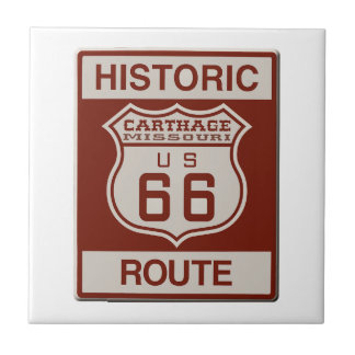 Carthage Route 66 Small Square Tile