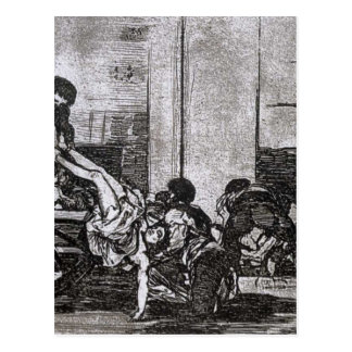 Cartloads to the cemetery by Francisco Goya Postcard
