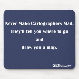 Cartographers Mad Mousepad