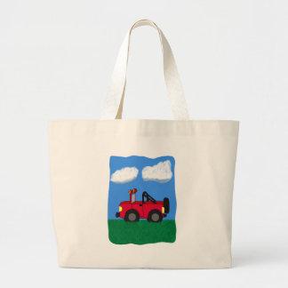 Cartoon 4 Wheel Drive Sport Utility Vehicle Jumbo Tote Bag