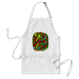 Cartoon Abstract Adult Apron