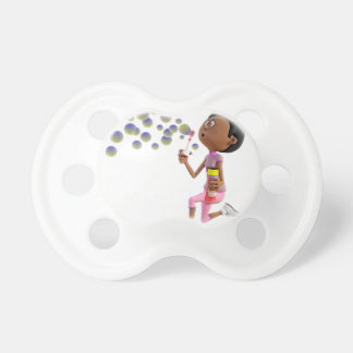Cartoon African American Girl Blowing Bubbles Dummy
