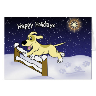 Cartoon Agility Dog Christmas Card