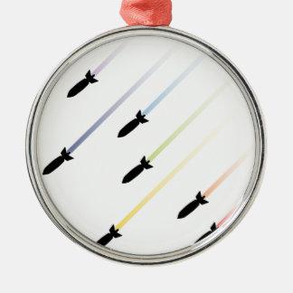 Cartoon Air Bomb 3 Metal Ornament