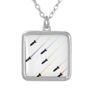 Cartoon Air Bomb 3 Silver Plated Necklace