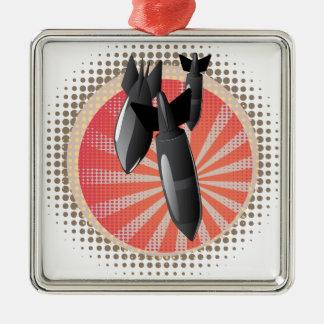 Cartoon Air Bomb Metal Ornament