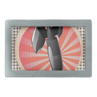 Cartoon Air Bomb Rectangular Belt Buckle