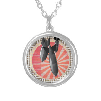 Cartoon Air Bomb Silver Plated Necklace