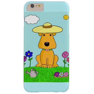 Cartoon Airedale Dog in Garden iPhone 6/6s Case