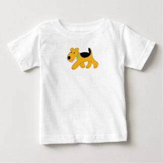 Cartoon Airedale Terrier Baby Fine Jersey T-Shirt