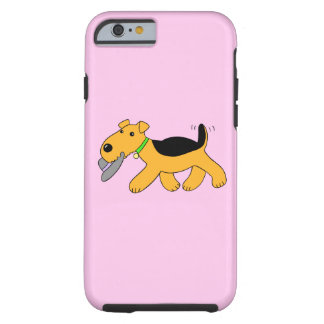 Cartoon Airedale Terrier Dog w Hat iPhone6/6s Case