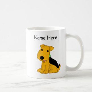 Cartoon Airedale Terrier Puppy Dog Mug