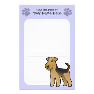 Cartoon Airedale Terrier / Welsh Terrier Customized Stationery