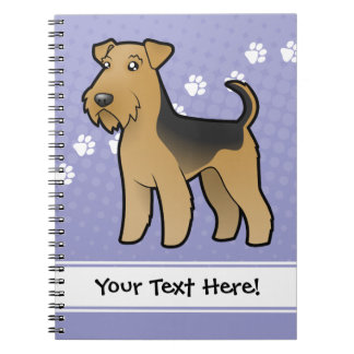Cartoon Airedale Terrier / Welsh Terrier Spiral Notebook