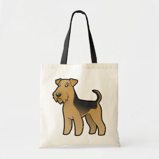 Cartoon Airedale Terrier / Welsh Terrier Tote Bag