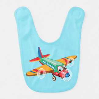 cartoon airplane baby bibs