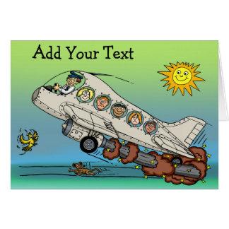 Cartoon Airplane Card