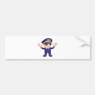 Cartoon airplane pilot bumper stickers
