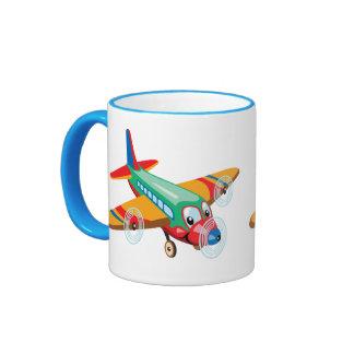 cartoon airplane ringer mug