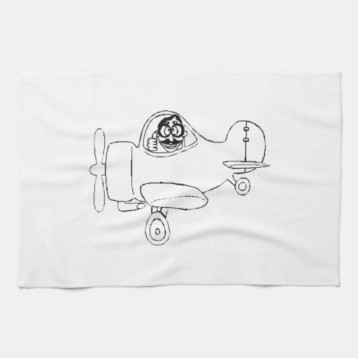 Cartoon Airplane Kitchen Towels