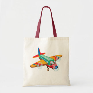 cartoon airplane tote bag