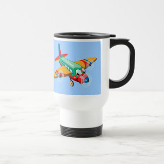 cartoon airplane travel mug