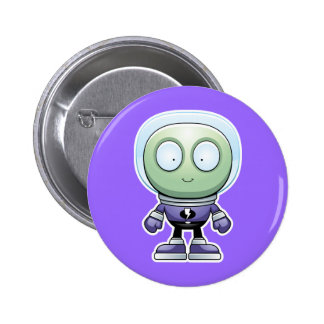 Cartoon Alien 6 Cm Round Badge