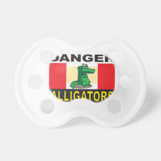 cartoon alligator help baby pacifier