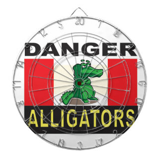 cartoon alligator help dartboard with darts