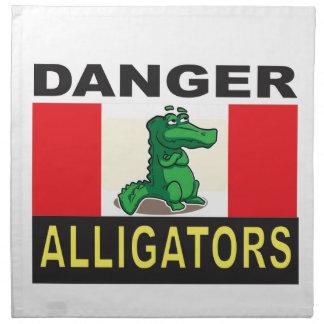 cartoon alligator help napkin