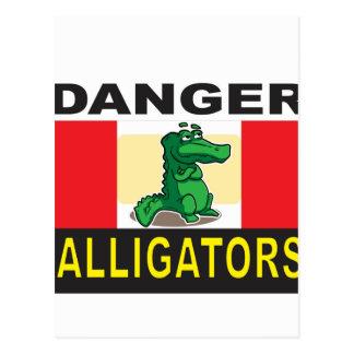 cartoon alligator help postcard