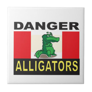cartoon alligator help small square tile