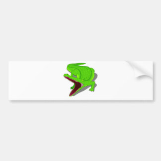 Cartoon Alligator with Its Mouth Open Bumper Sticker