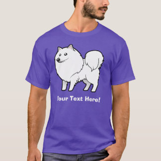 Cartoon American Eskimo Dog / German Spitz T-Shirt