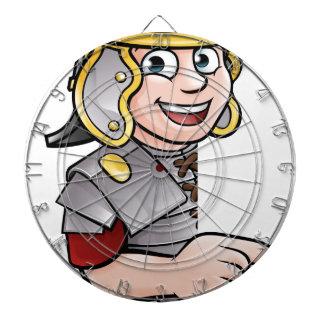 Cartoon Ancient Roman Soldier Pointing Dartboard