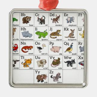 Cartoon Animal Alphabet Chart Ornaments