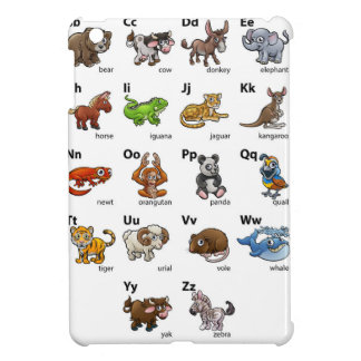 Cartoon Animal Alphabet Chart Set Case For The iPad Mini
