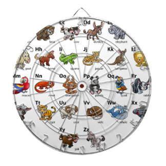 Cartoon Animal Alphabet Chart Set Dartboard
