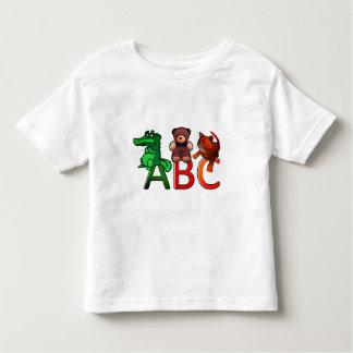 Cartoon Animals ABC Alphabet Print Toddler T-Shirt