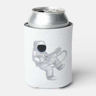 Cartoon Astronaut Can Cooler