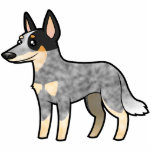 Cartoon Australian Cattle Dog / Kelpie Photo Sculpture Magnet