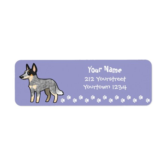 Cartoon Australian Cattle Dog / Kelpie Return Address Label