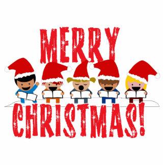 Cartoon Baby Carolers - Merry Christmas Photo Cutout