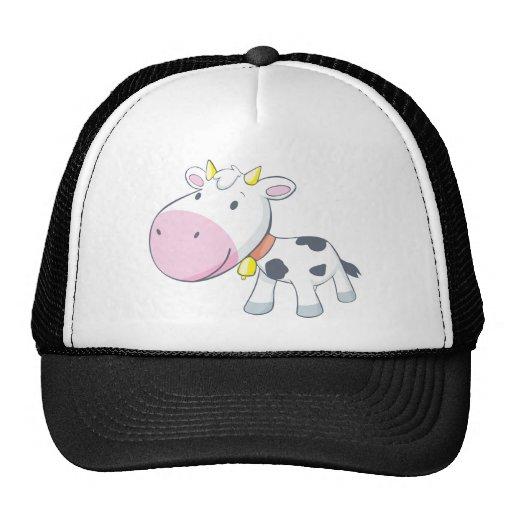 Cartoon Baby Cow Trucker Hat