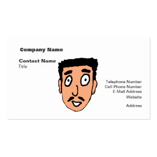 Cartoon Bad Pick up Line Slimy Moustache Guy Pack Of Standard Business Cards