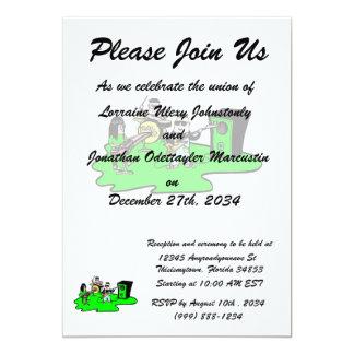 cartoon band green.png 13 cm x 18 cm invitation card