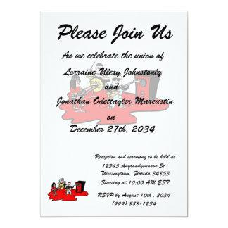 cartoon band red.png 13 cm x 18 cm invitation card