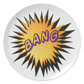 Cartoon Bang Party Plate