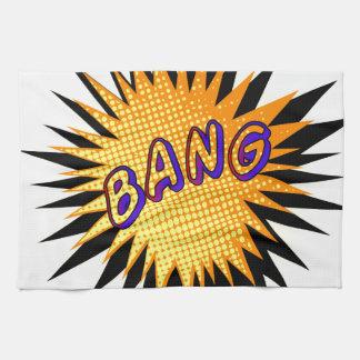 Cartoon Bang Tea Towel